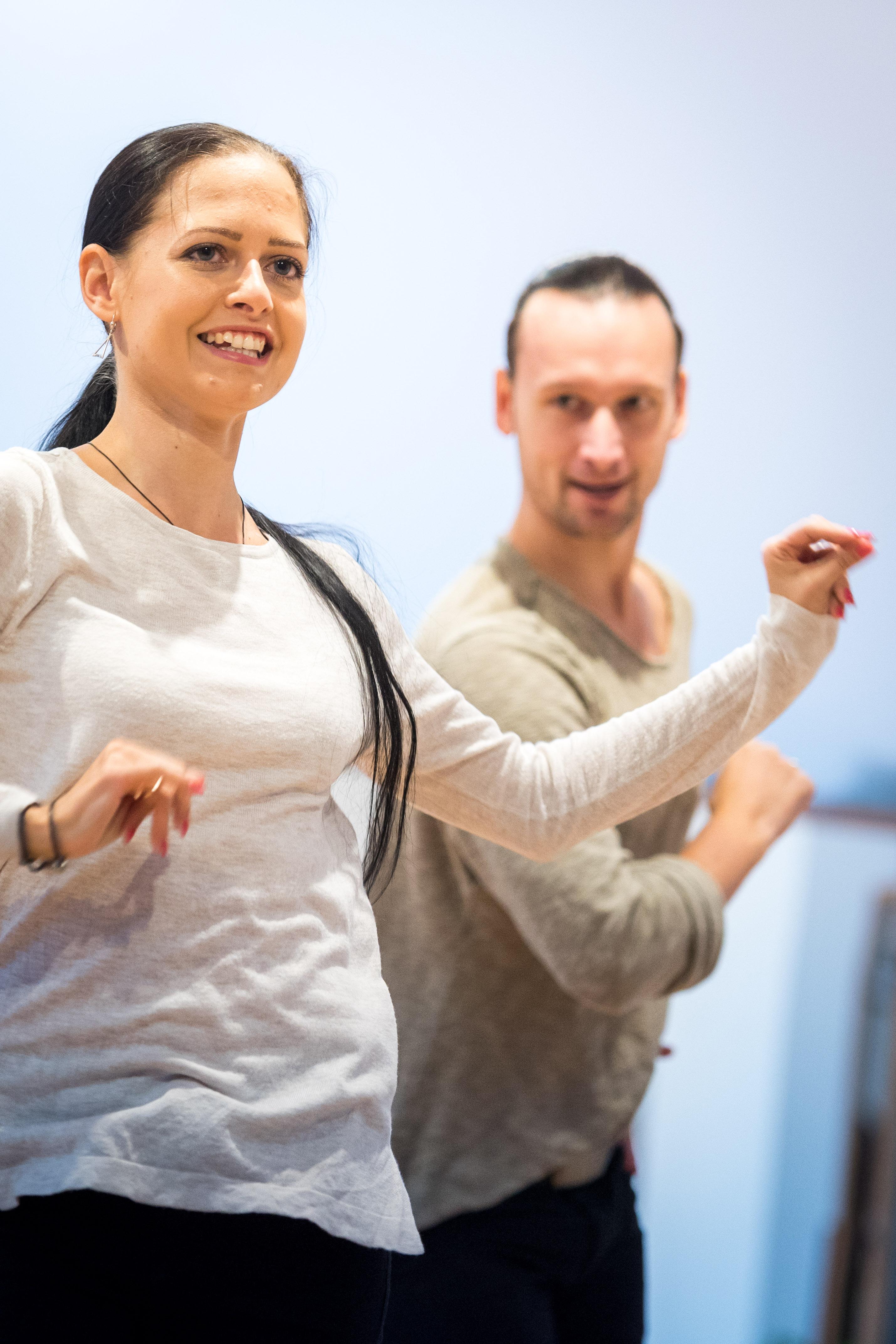 Ukázka profesionálního tanečního páru STK Praha